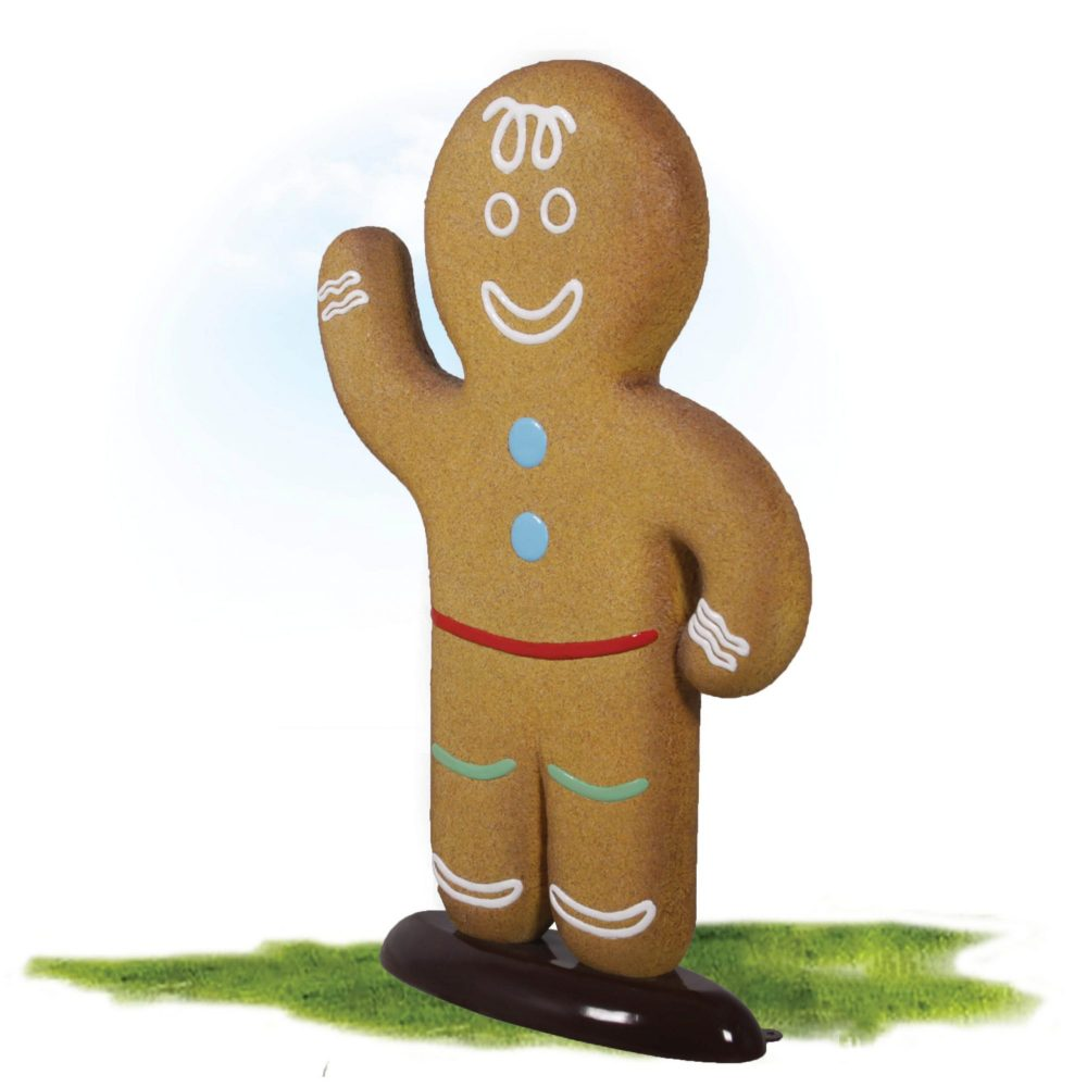 Gingerbread boy – Christmas Prop. Part of a set for themed events & displays