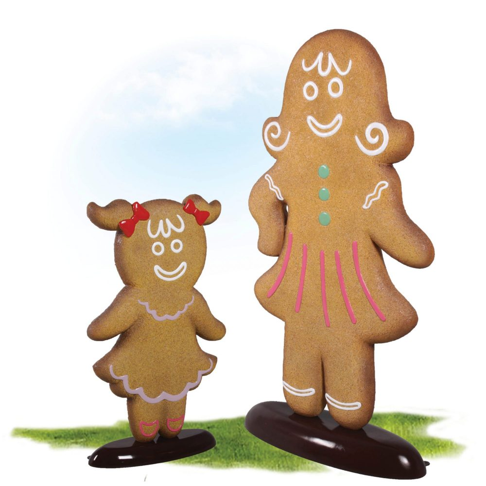 Awesome oversized Christmas Gingerbread woman. Part of a set for themed events & displays