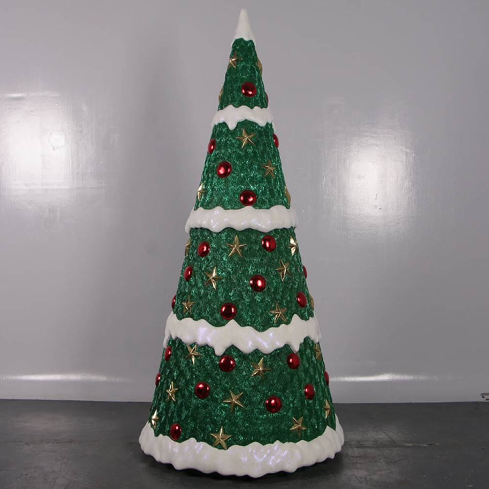 Christmas Tree with baubles - 7ft high showing whole tree