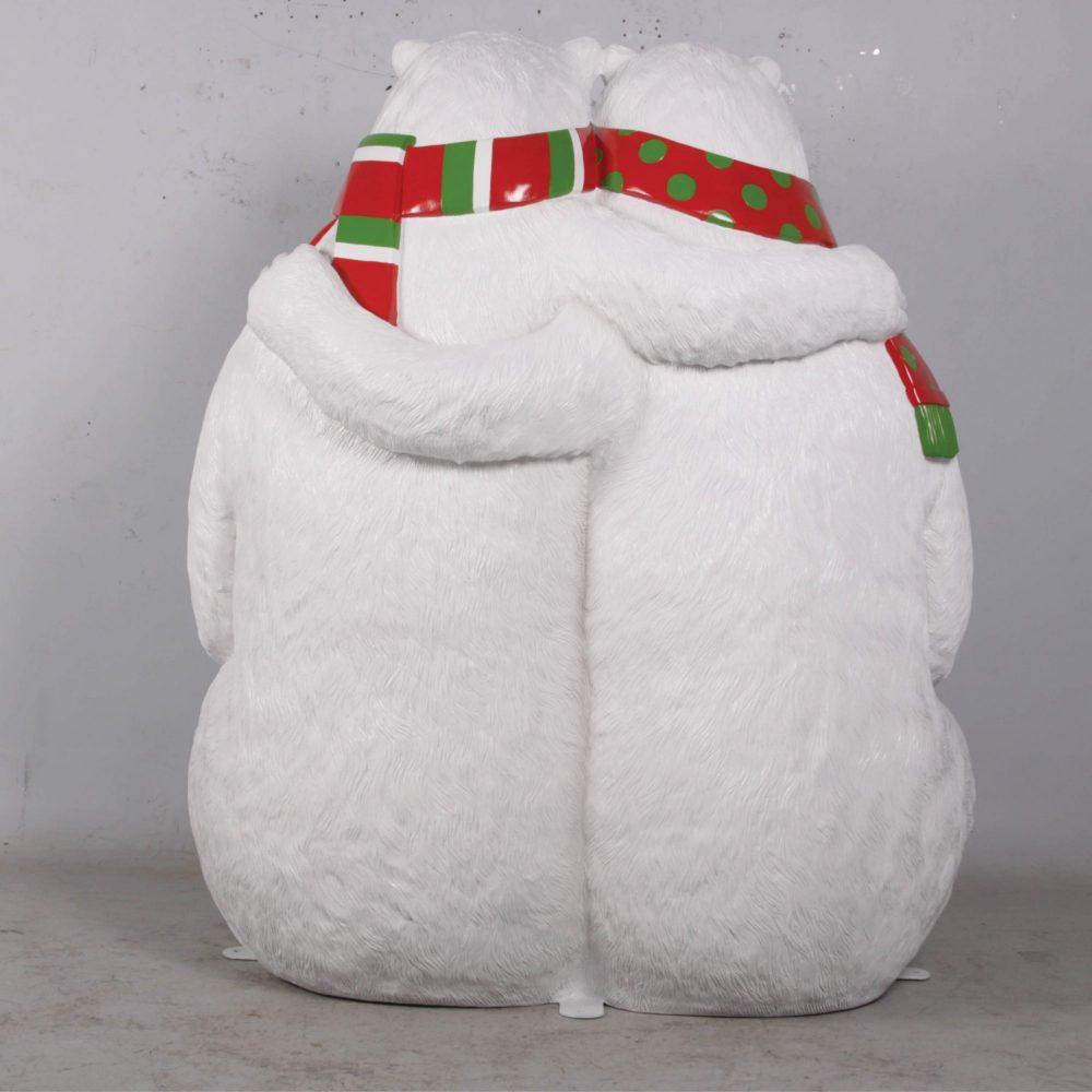 Christmas_Polar Bears Bench rear view