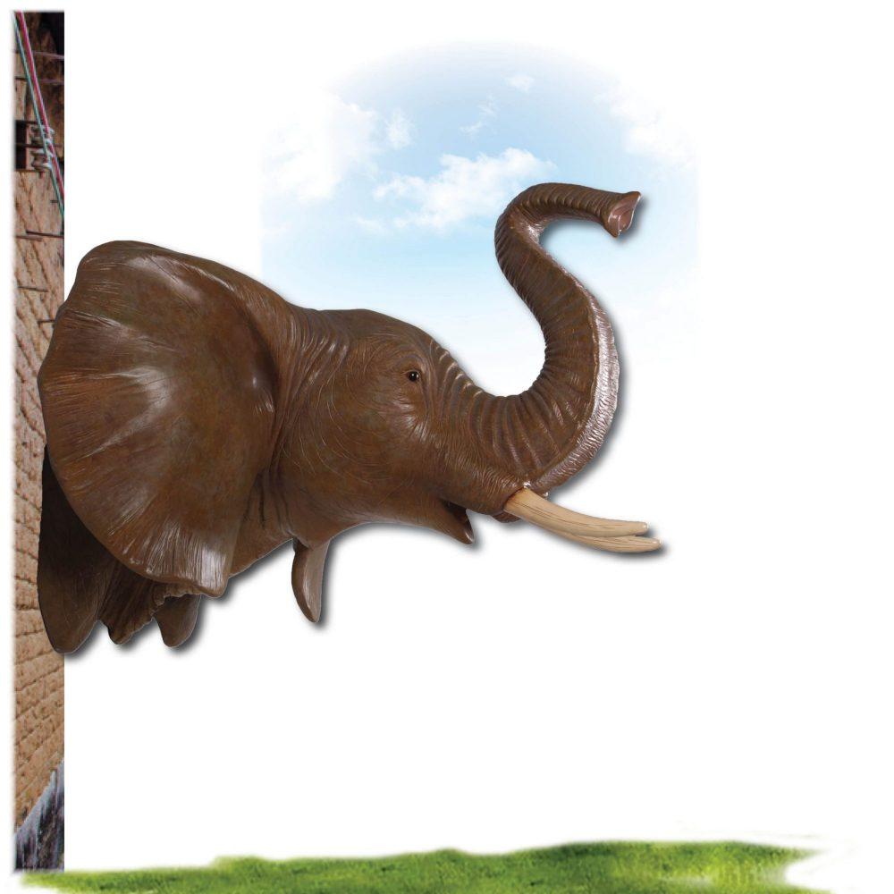 Elephant Head Wall Décor African