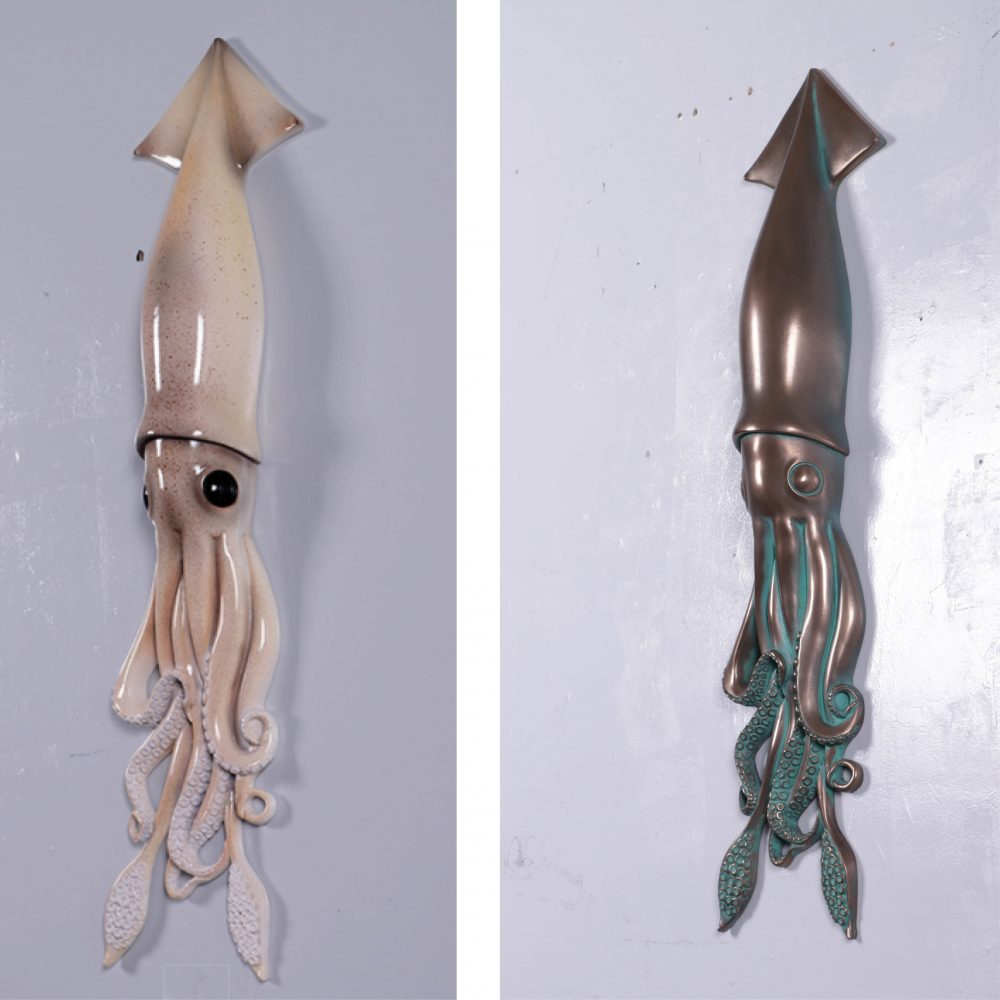 Natural Finished Squid Wall Decor