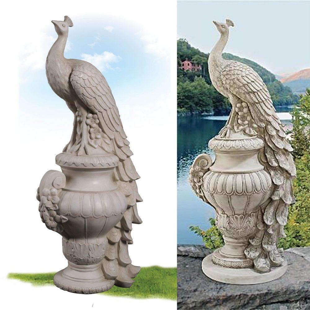Staverden Castle Peacock Statue - outdoor statue