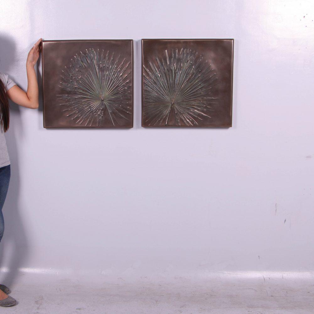 Wall Plaque - Anahaw Leaf interior decor - set of 2