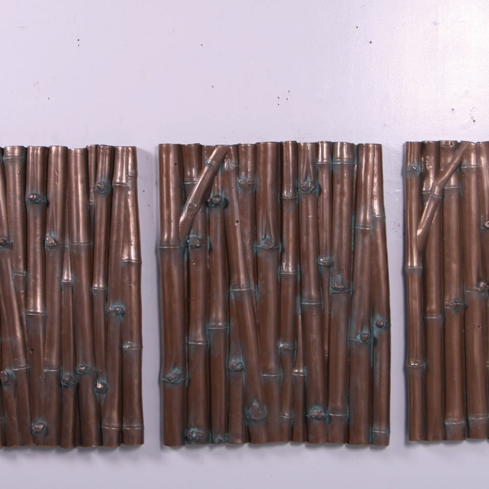 Wall Plaque – Interior bamboo wall décor - set of 3