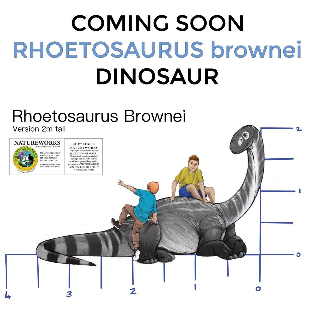 Rhoetosaurus brownei adolescent - dinosaur in resting pose -2m high